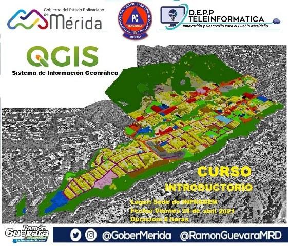 Diario Frontera, Frontera Digital,  DIRECCIÓN DE TELEINFORMÁTICA, GOBIERNO DE MÉRIDA, Regionales, ,Impartido Taller sobre QGIS como herramienta de gestión territorial