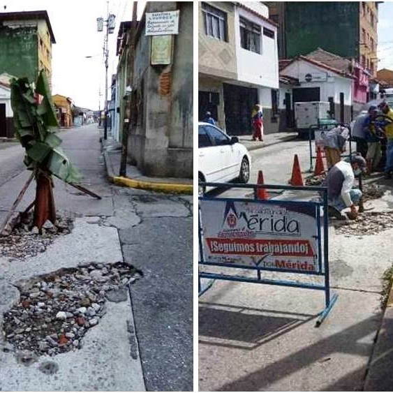 """Diario Frontera, Frontera Digital,  ALCALDÍA DE MÉRIDA, AVENIDA 8, Regionales, ,Alcides Monsalve Cedillo: """"Reparamos el adefesio  dejado por Aguas de Mérida en la avenida 8"""""""