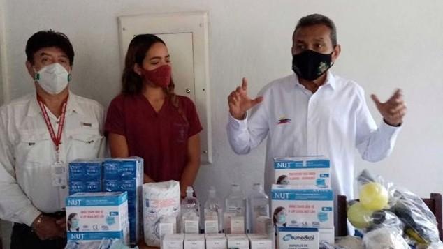 https://www.fronteradigital.com.ve/Gobernador entregó material  para recuperación del ambulatorio de El Arenal