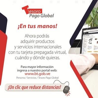 Diario Frontera, Frontera Digital,  BANCO DEL TESORO, Nacionales, ,Banco del Tesoro activa tarjeta  prepagada para compras por internet