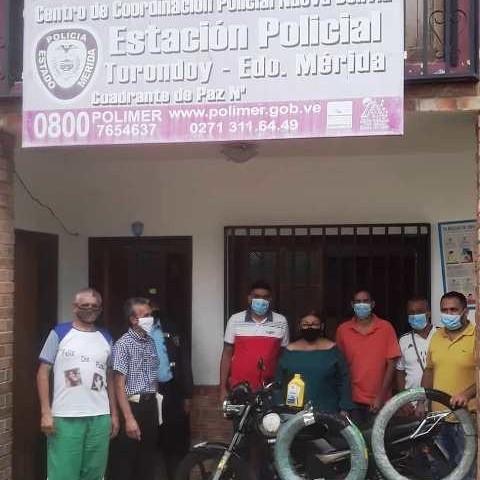 Diario Frontera, Frontera Digital,  TORONDOY, Panamericana, ,Comando policial de Torondoy recibió dotación por parte del Ejecutivo regional