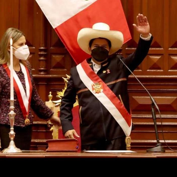Frontera Digital,  PEDRO CASTILLO, ASCENSO AL PODER, JURAMENTACIÓN, Internacionales,  Pedro Castillo jura como nuevo presidente de Perú