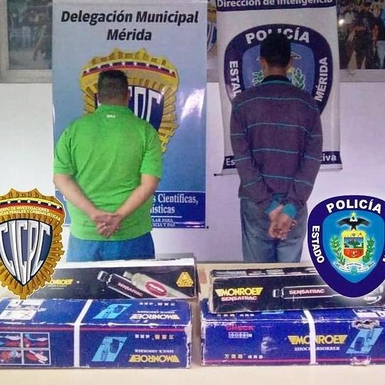 Frontera Digital, Diario Frontera, POLIMERIDA Y CICPC MÉRIDA CAPTURARON  A DOS CIUDADANOS POR HURTO EN LIBERTADOR