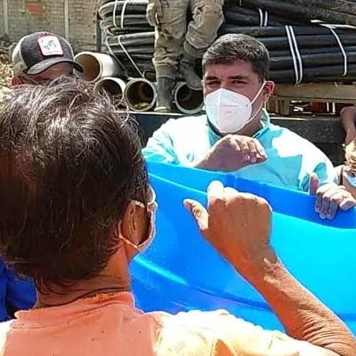 Diario Frontera, Frontera Digital,  TANQUES DE AGUA, EL COROZO, TOVAR, JEHYSON GUZMÁN, Mocoties, ,Jehyson Guzmán entregó tanques de agua a familias de El Corozo en Tovar