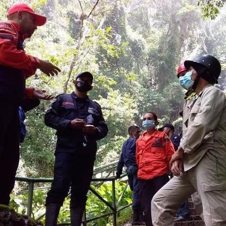 Diario Frontera, Frontera Digital,  PC MÉRIDA, INDI CARÚ, RIVAS DÁVILA, Mocoties, ,Protección Civil Mérida inspeccionó el Parque Cascada de la India Carú